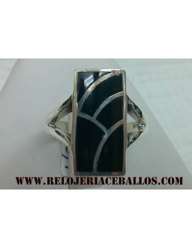 Sortija de plata y Azabache ref AN420/1