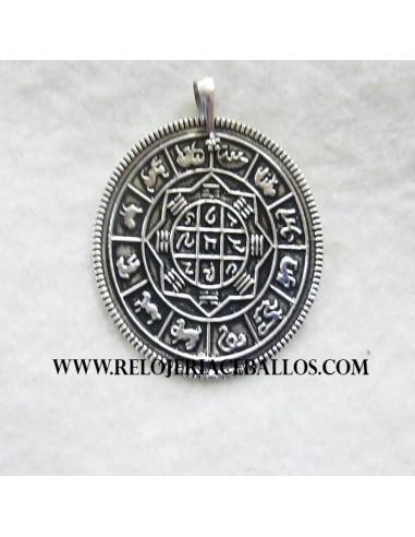 Disco zodiacal de plata  6650