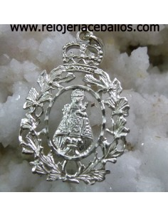 Virgen de Covadonga en plata chapada ref COVCH