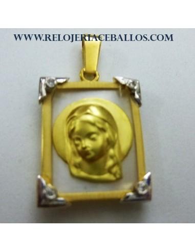 Medalla Virgen Niña de oro 1U32