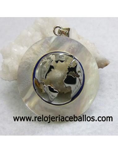 Colgante Bola del mundo de plata 6393