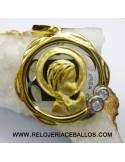 gargantilla de plata con colgante chapado ref 3298