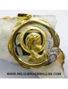 Medala de la Virgen Niña en oro 18K.de Finor ref U19B