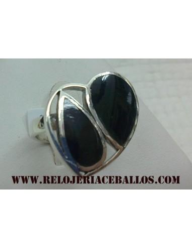 Sortija de plata y azabache ref AN409
