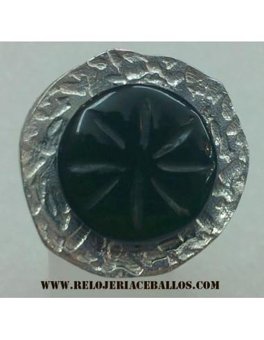 Azabache sortija de plata ref AN581