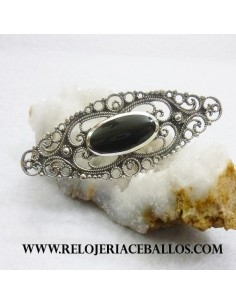 broche con plata y azabache  BR11