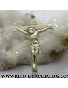 Crucifijo clásico de plata CC9