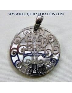 Cruz de Caravaca de plata 9H502G