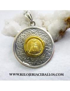 Medalla Covadonga plata chapada covbi