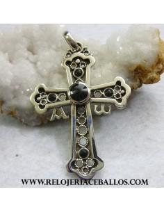 cruz de la victoria plata y azabache K-15