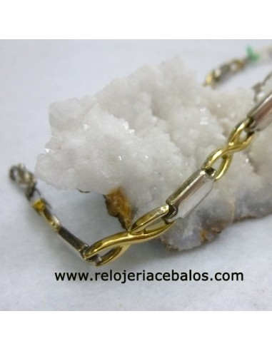 Pulsera de plata bicolor SRP
