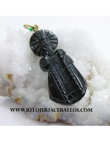 Virgen de Covadonga de Azabache tallado VCAZ