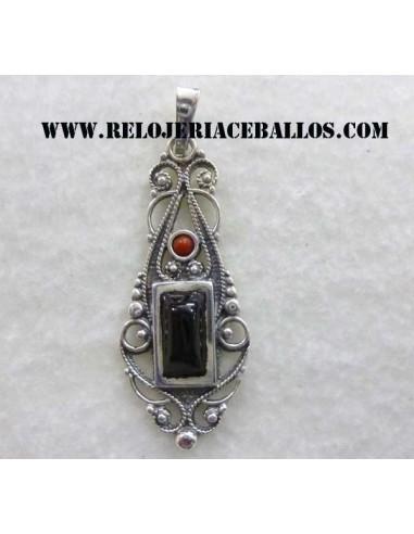 Colgante de Azabache y plata  H02509