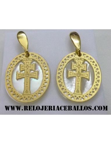 Cruz de Caravaca pendientes plata 8083