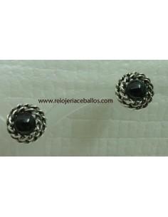 pendientes de azabache y plata ref p268