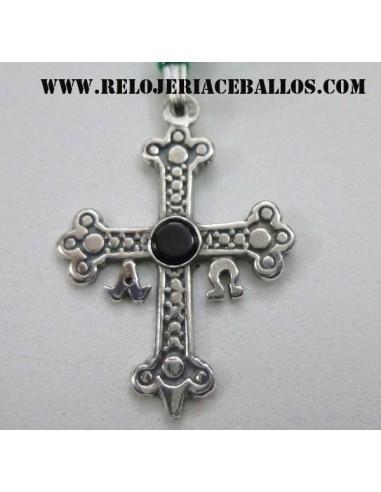 cruz de la victoria de plata y azabache 3820