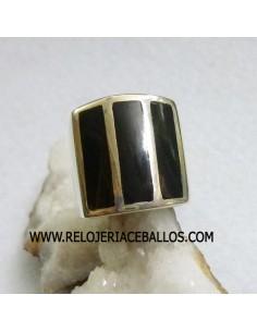Azabache sello de plata ref A-6