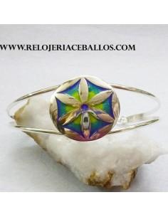 Hexapétala brazalete de plata  L12924