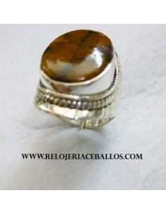 Quiastolita anillo de plata...