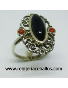 Azabache anillo de plata ref AI9C