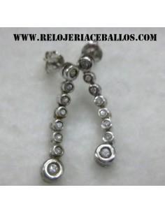 Pendiente de plata y circonitas PEN90