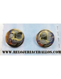 Pendiente Triskel de acero y oro  61423/CG