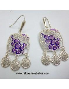 Pendientes de plata con esmalte ref ESP9