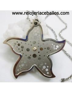 Estrella de acero con brillante ref IAJ52