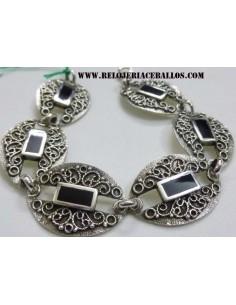 Azabache pulsera de plata  P58