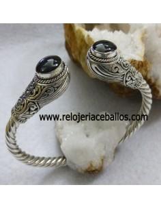 Brazalete de plata con Azabache ref 660-0052
