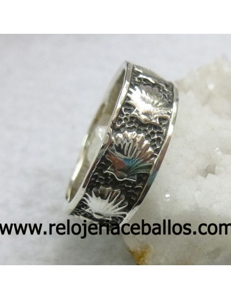 Concha del Camino de Santiago Anillo de plata ref 141-0009