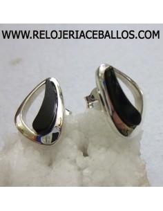Pendientes de plata con Azabache ref T04714