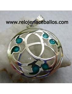 Triqueta celta de plata con esmalte ref L02849