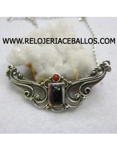 Azabache gargantilla de plata ref H21512