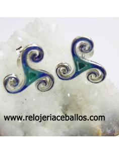 Triskel esmalte pendientes ref 127-0079