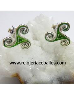 Pendientes celtas con trisquel esmaltado ref 127-0081