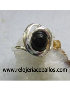 Azabache sortija de plata ref 640-38