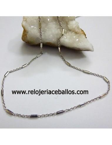 Cadena de plata combinada ref FE73