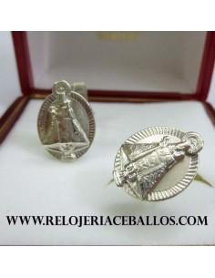 Gemelo de plata con Virgen de Covadonga COV2