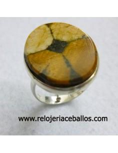 Sortija de plata con Quiastolita ref QB1