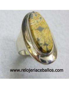 Sortija de plata con Quiastolita ref QB4