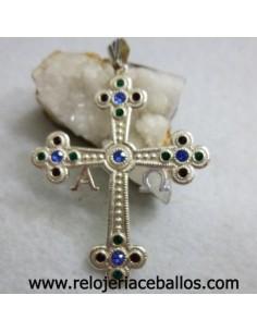 Cruz de la Victoria de plata y Piedras de color R580