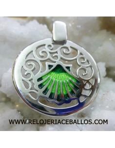 Concha de Santiago de plata con esmalte T02106