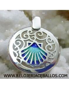 Concha de Santiago de plata con esmalte T02107