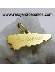 Mapa de Asturias en oro ref MPO