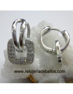 Aretes  pendientes con pedrería 651-0096