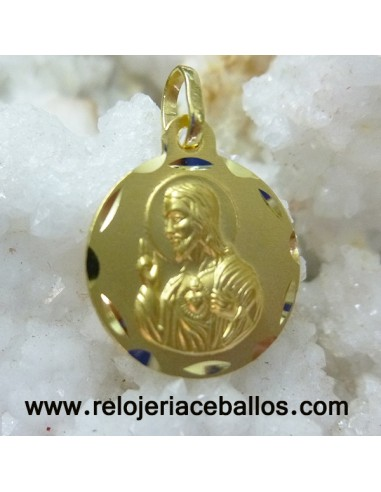 Sagrado Corazón medalla de oro ref E16