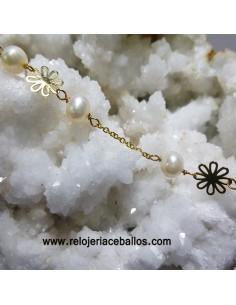 Pulsera de  oro con perlas ref 07951