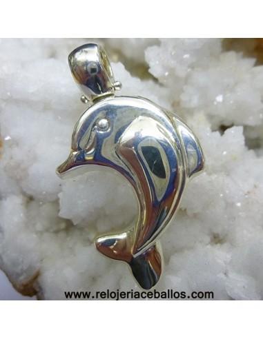 Delfín de plata de ley colgante ref S4B