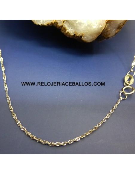 Cadena Singapur oro blanco ref SGB45
